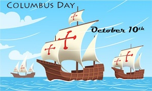 Columbus Day, October 10th